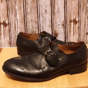 Robert Wayne Leather Loafers with Buckle